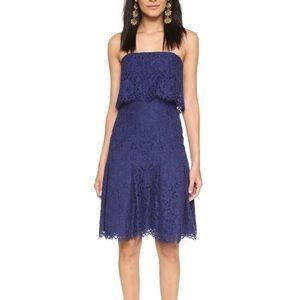 Shoshanna Zora lace dress in 'Ink'